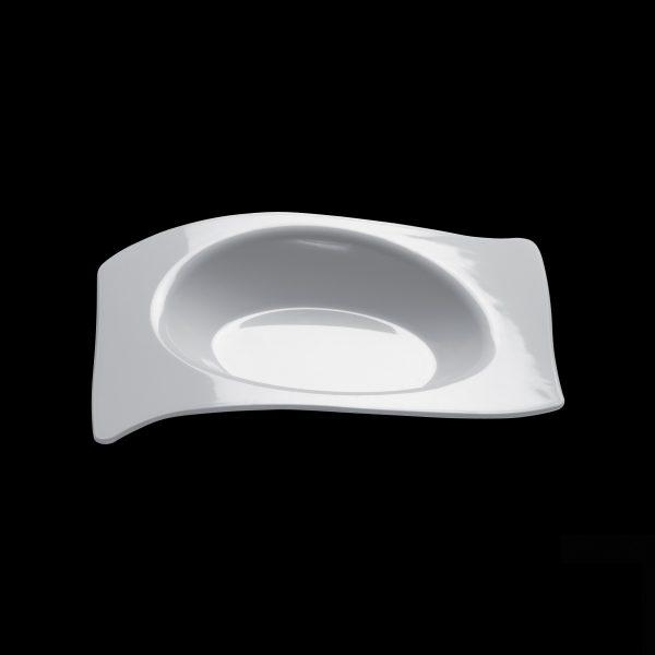 Tanjir za catering bijeli plastičan Gold Plast 220×180 mm FORMA (12 kom/pak)