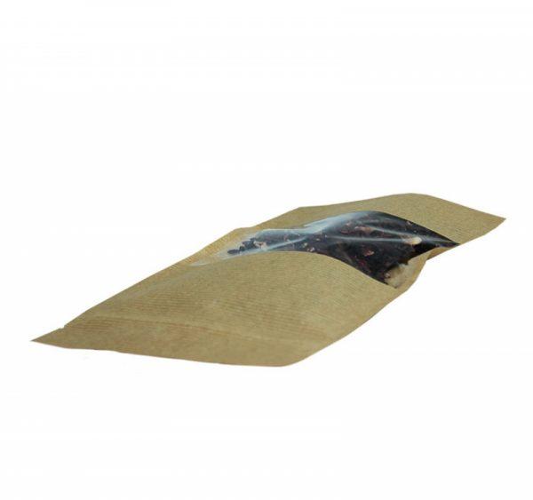 Papirna kesa ziplock 225х135х45 mm kraft (500 kom/pak)