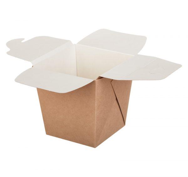 Kartonska kutija za rezance ECO Noodles 560 ml 90х90х100 mm pravougaono dno kraft (35 kom/pak)