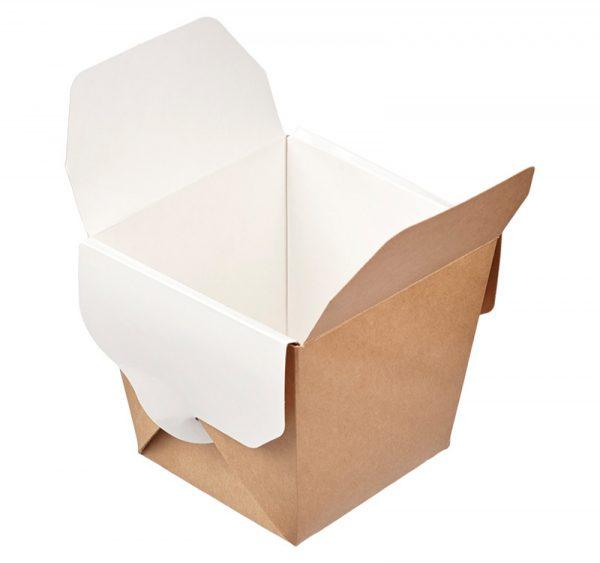 Posuda papirnata ECO NOODLES 460 ml 65х80х100mm, pravougaono dno, kraft (35 kom/pak)