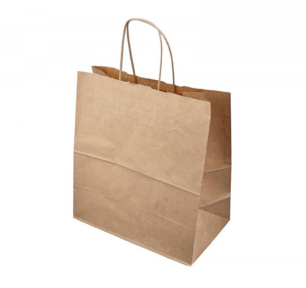 Papirna kesa sa uvijenim ručkama 320х200х320 mm kraft (200 kom/pak)