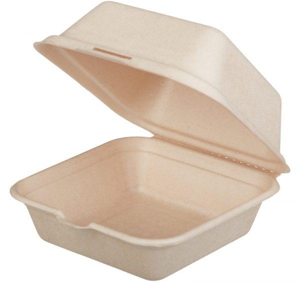 Kutija za hamburger Tambien ECO TF 156x158x88 mm, kraft (50 kom/pak)