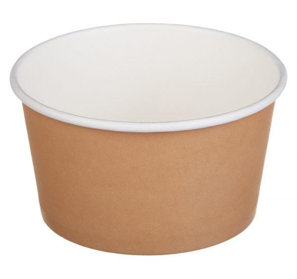 Kartonska posuda sa poklopcem Tambien ECO D=110 mm, h=60 mm 380 ml, kraft, 50 kom (komplet)