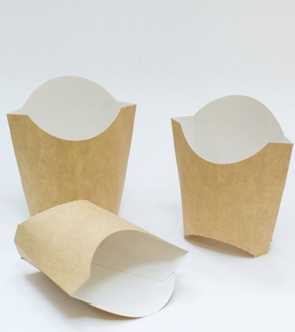 Kutija za pomfrit mala 32х68х100 mm, kraft (100 kom/pak)