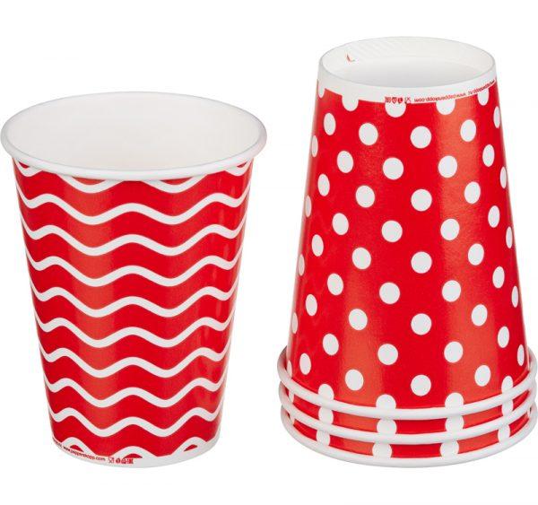 Čaša papirnata jednoslojna 300 (364) ml d=90mm za hladna pića Lollipop (50 kom/pak)