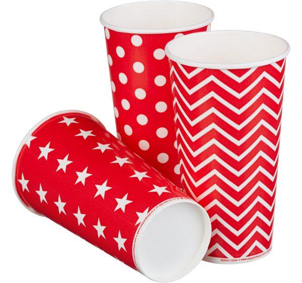 Papirna čaša 1-sl 500 ml d=90 mm Lolipop za hladna pića (50 kom/pak)