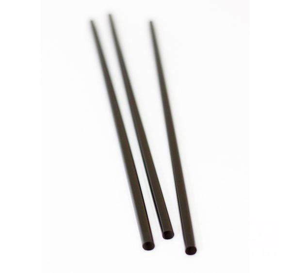 Ravne slamčice PP 250×8 mm crni, 135 kom