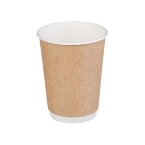 Čaša 300 ml papirnata d=90mm dvoslojna Kraft (20 kom/pak)
