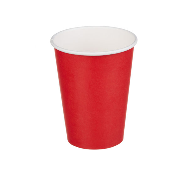 Papirna čaša 1-sl 300 ml d=90 mm crvena (50 kom/pak)