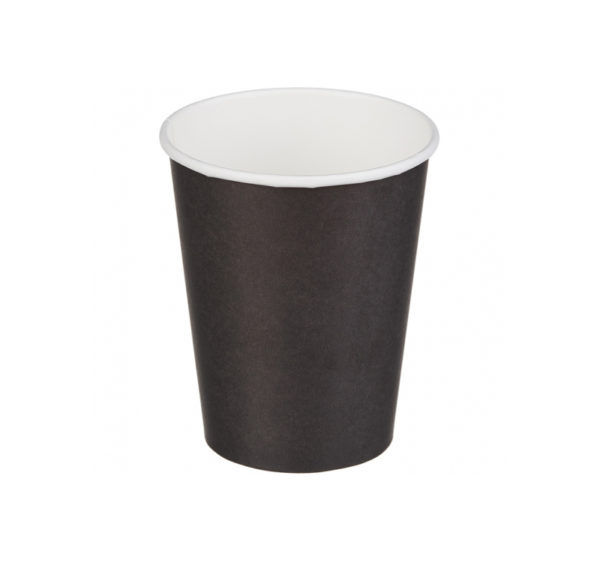 Čaša papirnata jednoslojna 250 (273) ml crna (50 kom/pak)