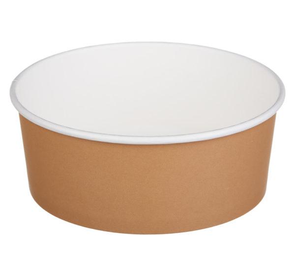 Kartonska kutija sa poklopcem TaMbien 1090 ml smeđa 100 kom (komplet)