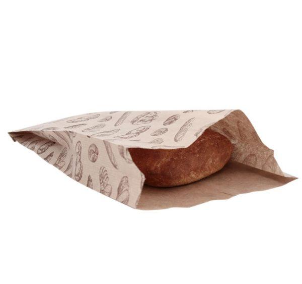 Papirna kesa sa slikom hleba 200x50x320 mm (500 kom/pak)