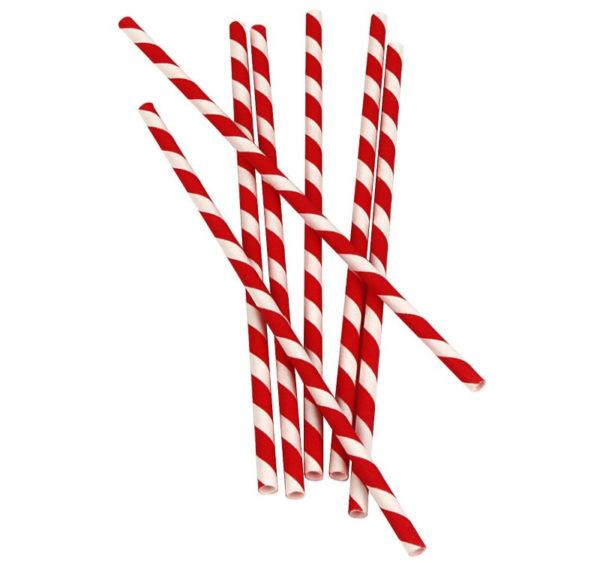 Slamčice papirnate Lollipop l = 210 mm d = 6 mm (25 kom)