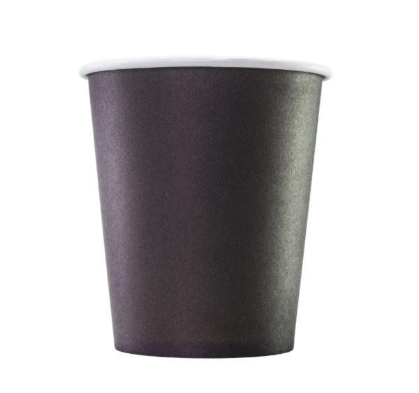 Papirna čaša 1-sl 250 ml d=80 mm crna (75 kom/pak)