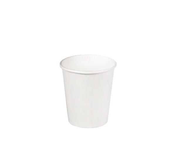 Čaša papirnata jednoslojna 85 (100) ml d = 73 mm za topla pića bela