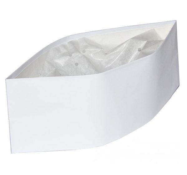 Zaštitna kapa vojnicka pilotka papirnata bijela ToMoS 100 kom/pak