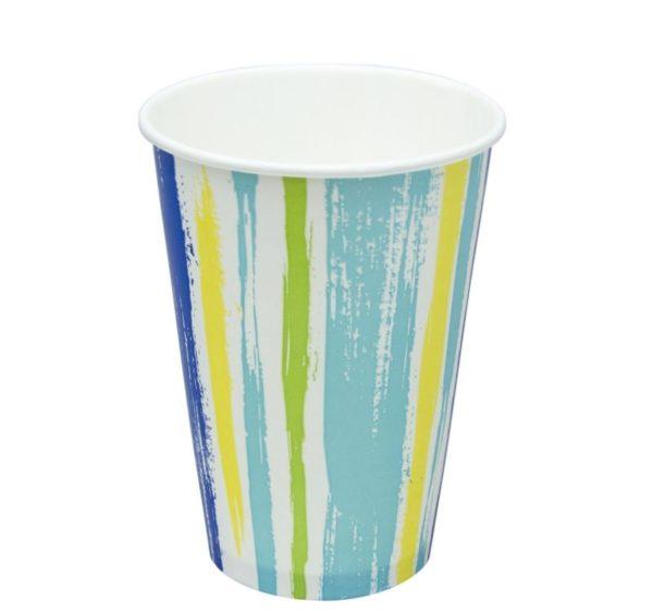 Papirna čaša 1-sl 300 ml d=90 mm Strips za hladna pića (50 kom/pak)