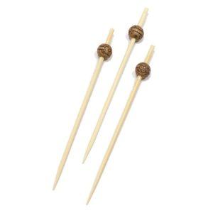 Bockalica od bambusa za kanapee 9 cm Perla ECO d=8 mm 100 kom/pak