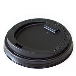 Poklopac sa bočnim otvorom PS d=80 mm crni (100 kom/pak)