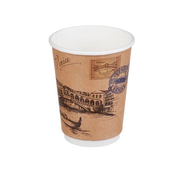 Papirna čaša 2-sl 300 ml d=90mm Gradovi sveta Kraft (20 kom/pak)
