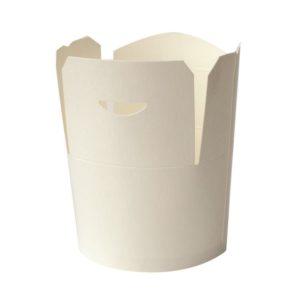 Posuda papirnata 750 ml d = 92 mm, h = 100 mm bela (50 kom/pak)