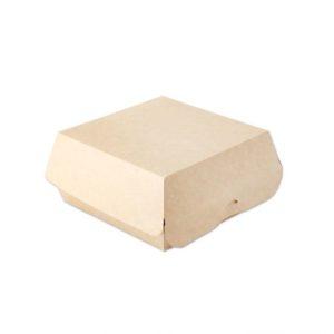 Kutija za hamburger Ecoline unutarnje laminiranje 120x120x70 mm, kraft (300 kom/pak)