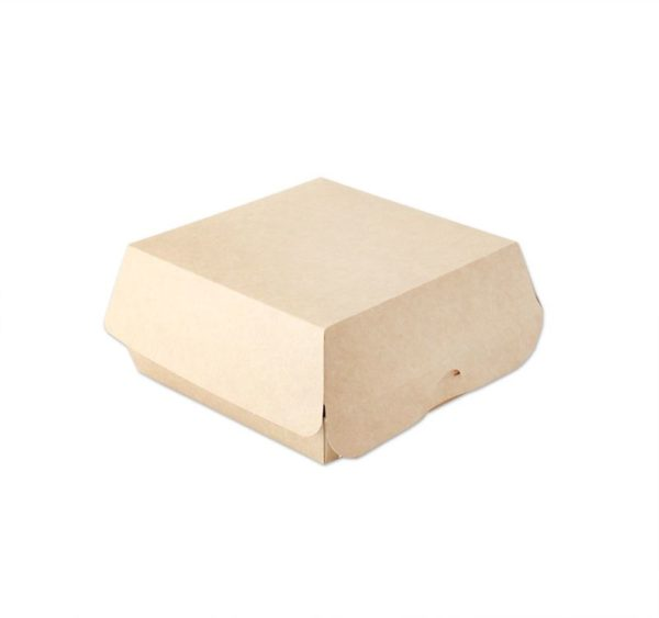 Kutija za hamburger Ecoline unutarnje laminiranje 120x120x70mm, kraft (300 kom/pak)