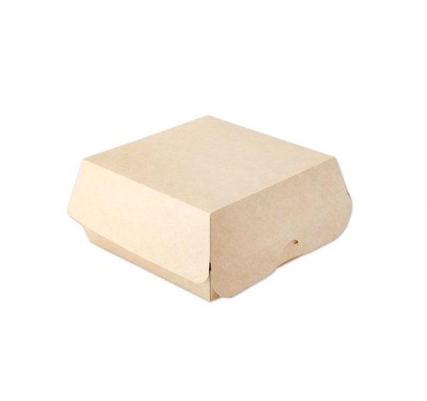 Kutija za hamburger Ecoline unutarnje laminiranje 120x120x70mm, kraft