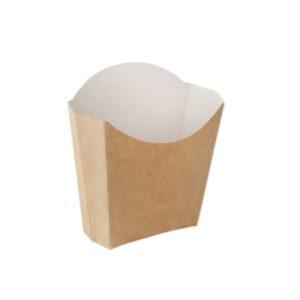 Kutija za pomfrit Ecoline 100 g kraft (500 kom/pak)