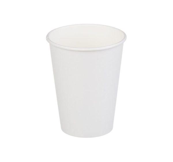 Čaša papirnata jednoslojna 300 (430) ml d=90mm za topla pića bela