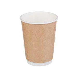 Papirna čaša 2-sl 300 ml d=90 mm kraft (25 kom/pak)