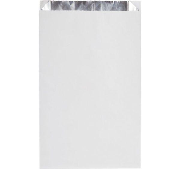 Papirna kesa 200x50x330 mm bijela sa folijom (1000 kom/pak)