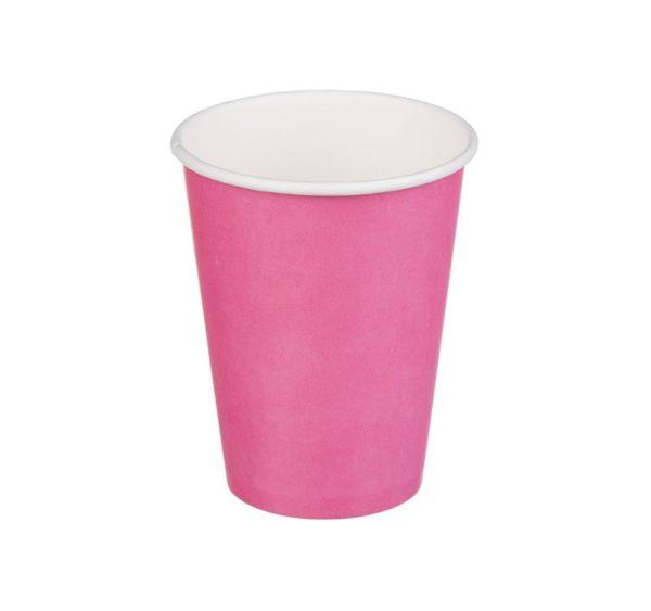 Papirna čaša 1-sl 300 ml d=90 mm ružičasta (50 kom/pak)