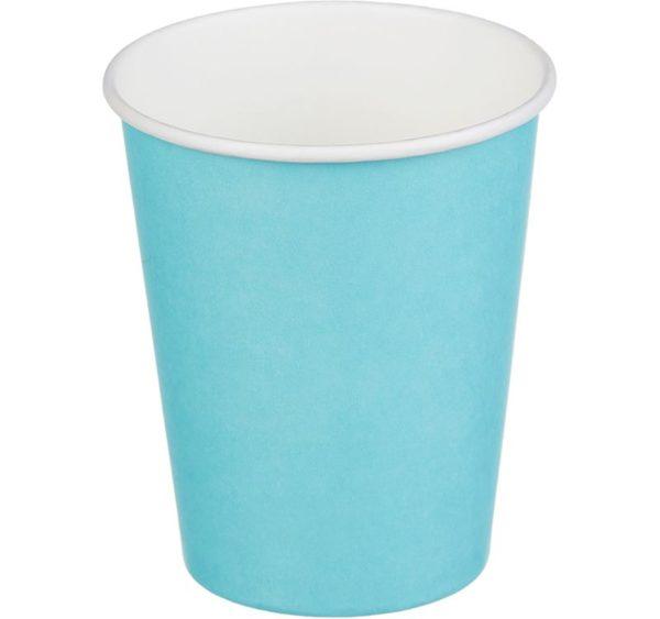Papirna čaša 1-sl 250 ml d=80 mm tirkizno (50 kom/pak)