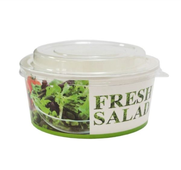 Kartonska posuda za salate 750 ml d=146 mm h=65 mm Fresh salad (50 kom/pak)