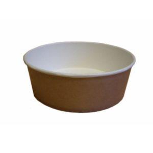 Kartonska posuda za salate sa poklopcem 550 ml d=143 mm h=52 mm bijela kraft 50 kom (komplet)
