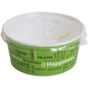 Kartonska posuda za supu Fiesta 750 ml d=150 mm h=60 mm sa poklopcem, 100 kom (komplet)