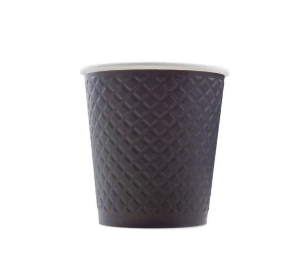 Papirna čaša 2-sl 220 ml d=80 mm Waffle black (25 kom/pak)