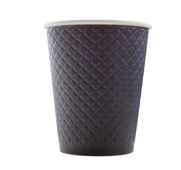 Papirna čaša 2-sl 300 ml d=90 mm Waffle black (25 kom/pak)