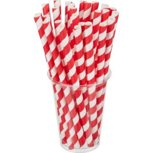 Papirne slamčice Tambien ECO 210×10 mm Lollipop 100 kom/pak