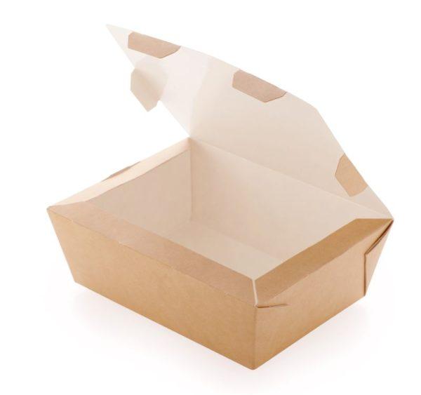 Kutija za ručak preklopna CRAFTBOX 600 ml 150x115x50 mm, kraft (350 kom/pak)