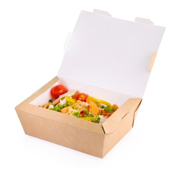 Kutija za ručak preklopna CRAFTBOX 1000 ml 190x150x50 mm, Kraft (200 kom/pak)
