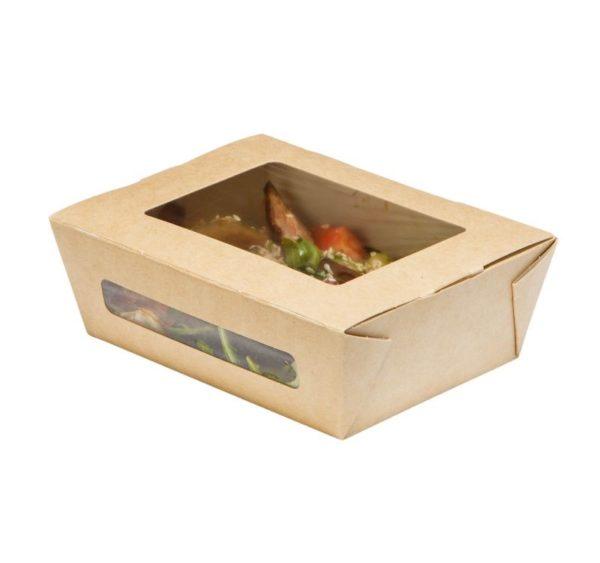 Kartonska kutija  sa prozorom DuoBox 600 ml 150x115x50 mm kraft (200 kom/pak)