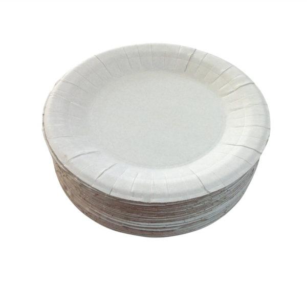 Tanjir kartonski d=230 mm bijeli glaziran (250 kom/pak)
