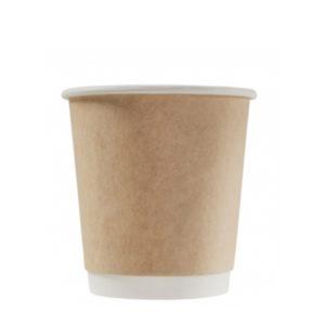 Čaša papirnata dvoslojna 250 (280) ml d=80mm kraft (25 kom/pak)