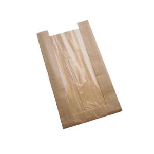 Kesa papirnata 130(50) х50х300 sa prozorom, kraft (1500 kom/pak)