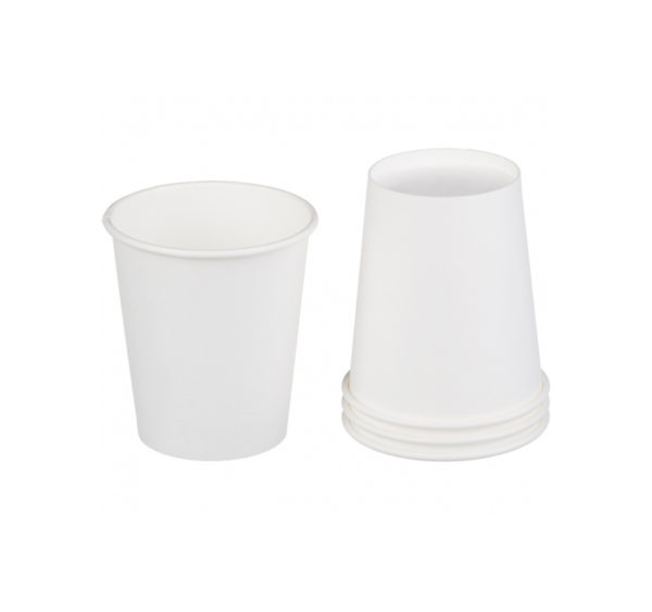 Čaša papirnata 1sloj 250 (280) ml d = 80 mm za tople napitke, bela