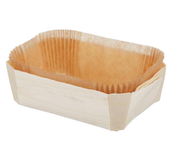 Posuda za peko lesena za enkratno uporabo PRINCE 140x95x50mm (240 kom/pak)