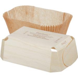 Posuda za peko lesena za enkratno uporabo PRINCE 140x95x50 mm (240 kom/pak)
