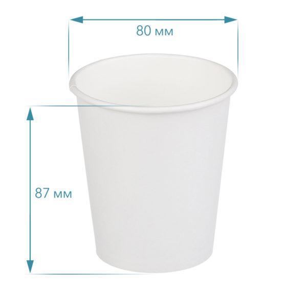 Papirna čaša 1-sl 250 ml d=80 mm bijela (18 kom/pak)
